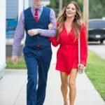 kelly red hot dress with hubby