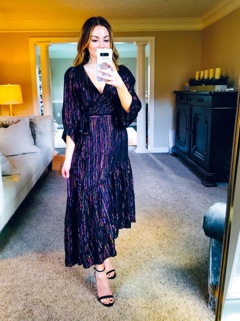 Apiece Apart metallic wrap dress